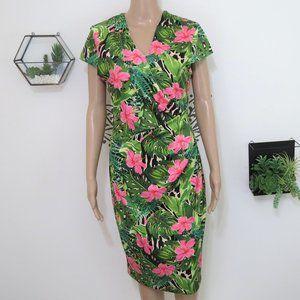 NWT Alexia Admor Tropical Foliage Dress M